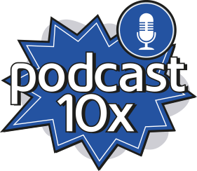 Podcast 10x Logo - Content 10x
