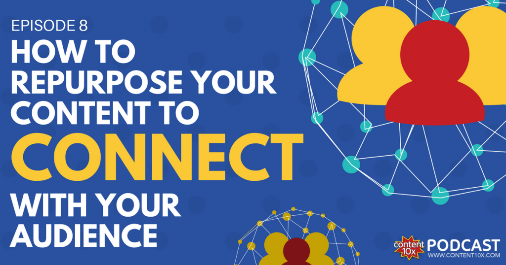 How to Repurpose Your Content To Connect With Your Audience - Content 10x Podcast