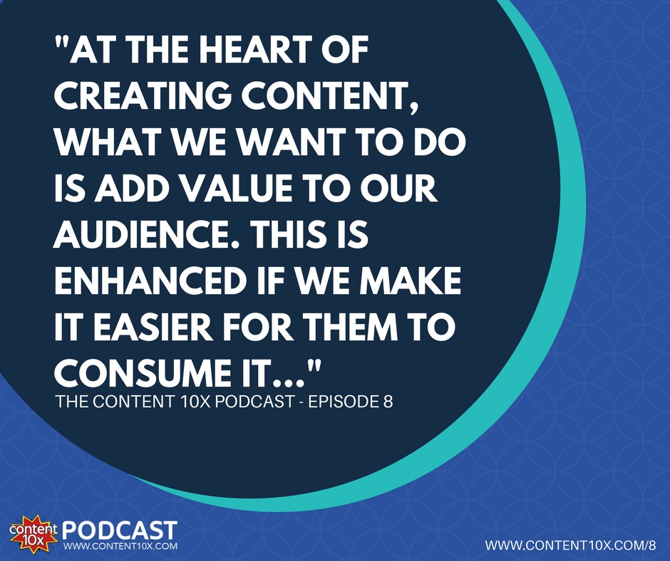 Connect with your audience - The Content 10x Podcast