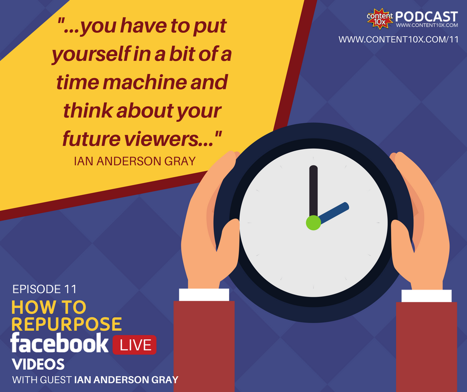 EP 11 - How To Repurpose Facebook Live Videos With Ian Anderson Gray