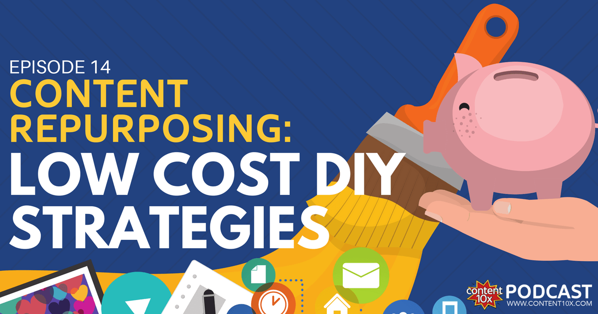 Content Repurposing: Low Cost DIY Strategies - Content 10x Podcast Amy Woods