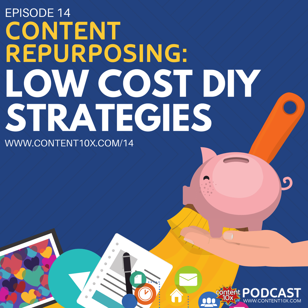Content Repurposing - Low Cost DIY Strategies - Content 10x Podcast