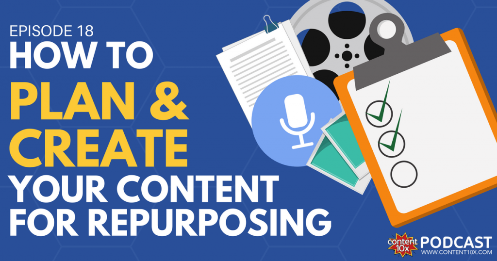 How to Plan & Create Your Content For Repurposing - Content 10x Podcast