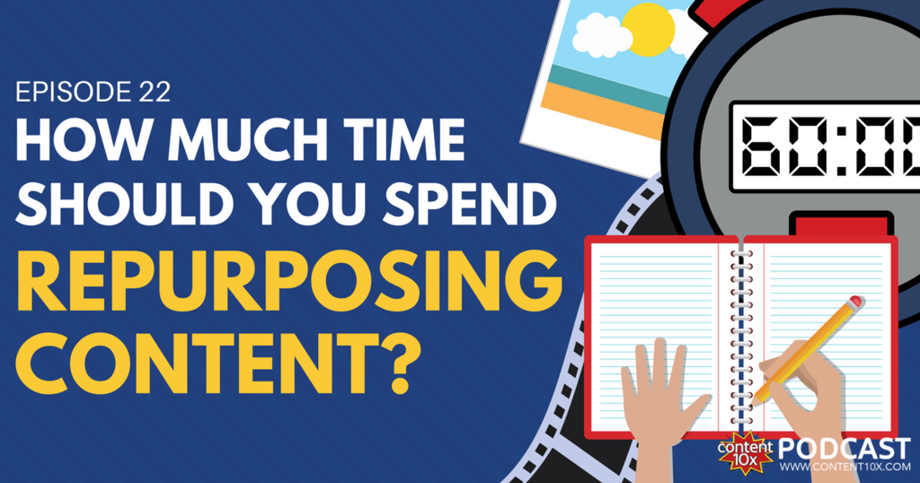 How Much Time Should You Spend Repurposing Content - Content 10x Podcast