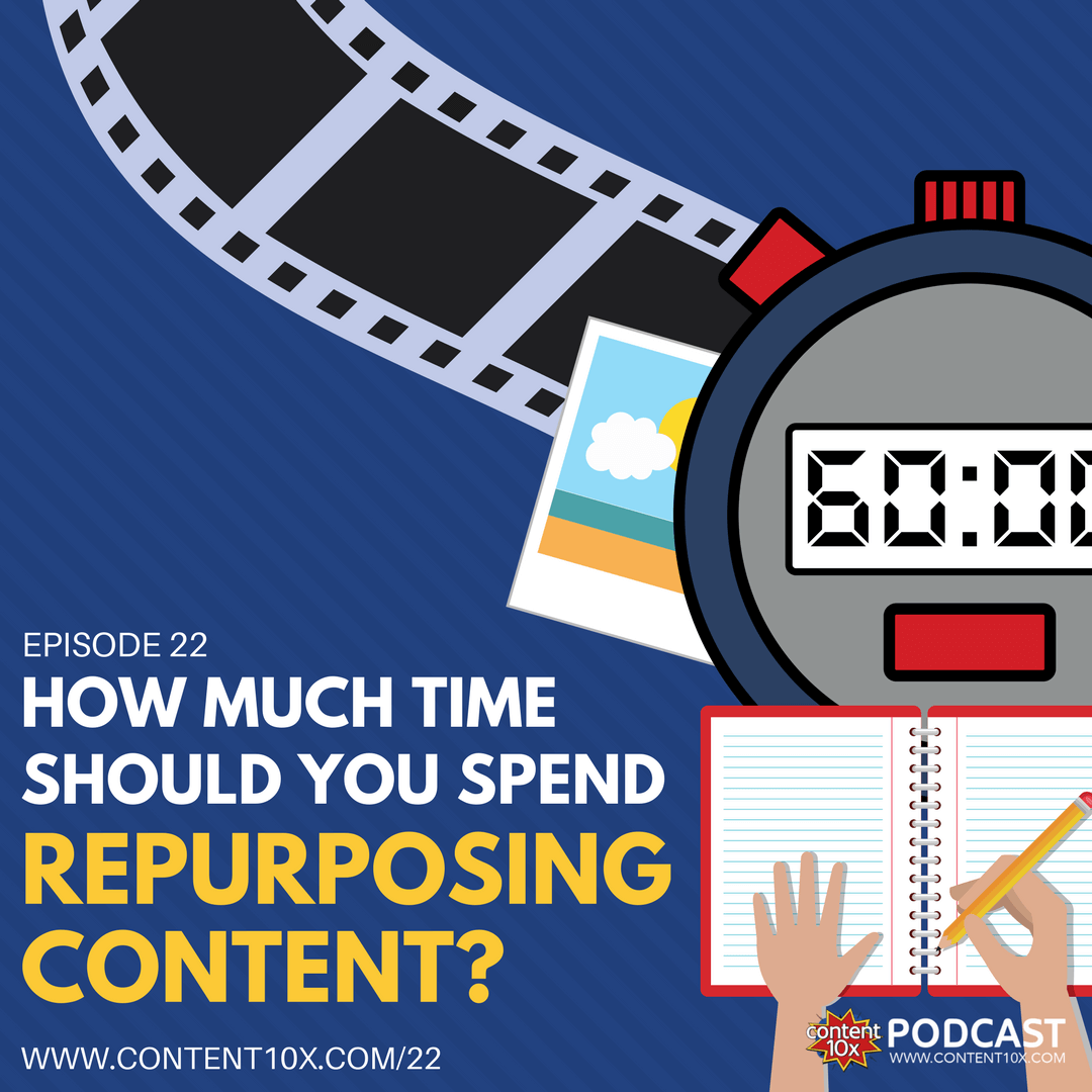 How Much Time Should You Spend Repurposing Content -  The Content 10x Podcast