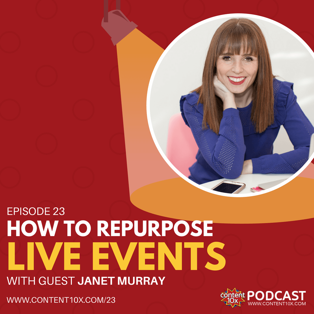 How to Repurpose Live Events with Janet Murray - The Content 10x Podcast