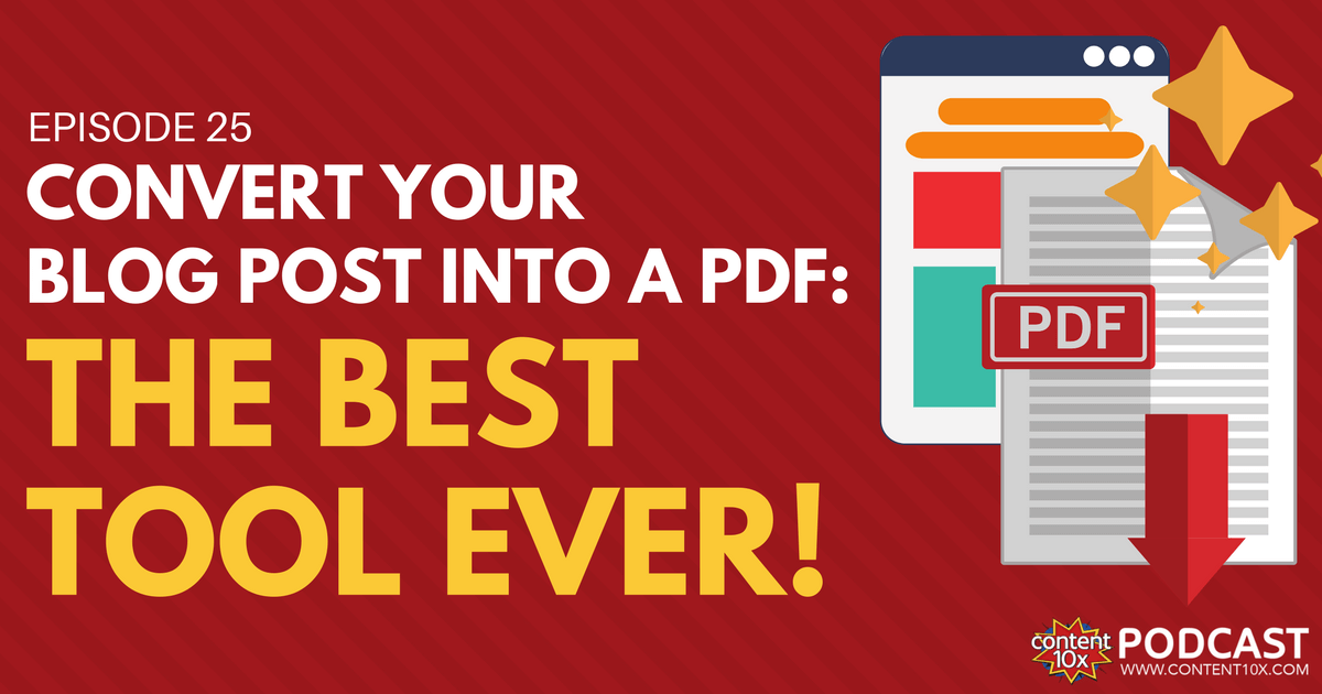 Convert Your Blog Post Into A PDF - The Best Tool Ever