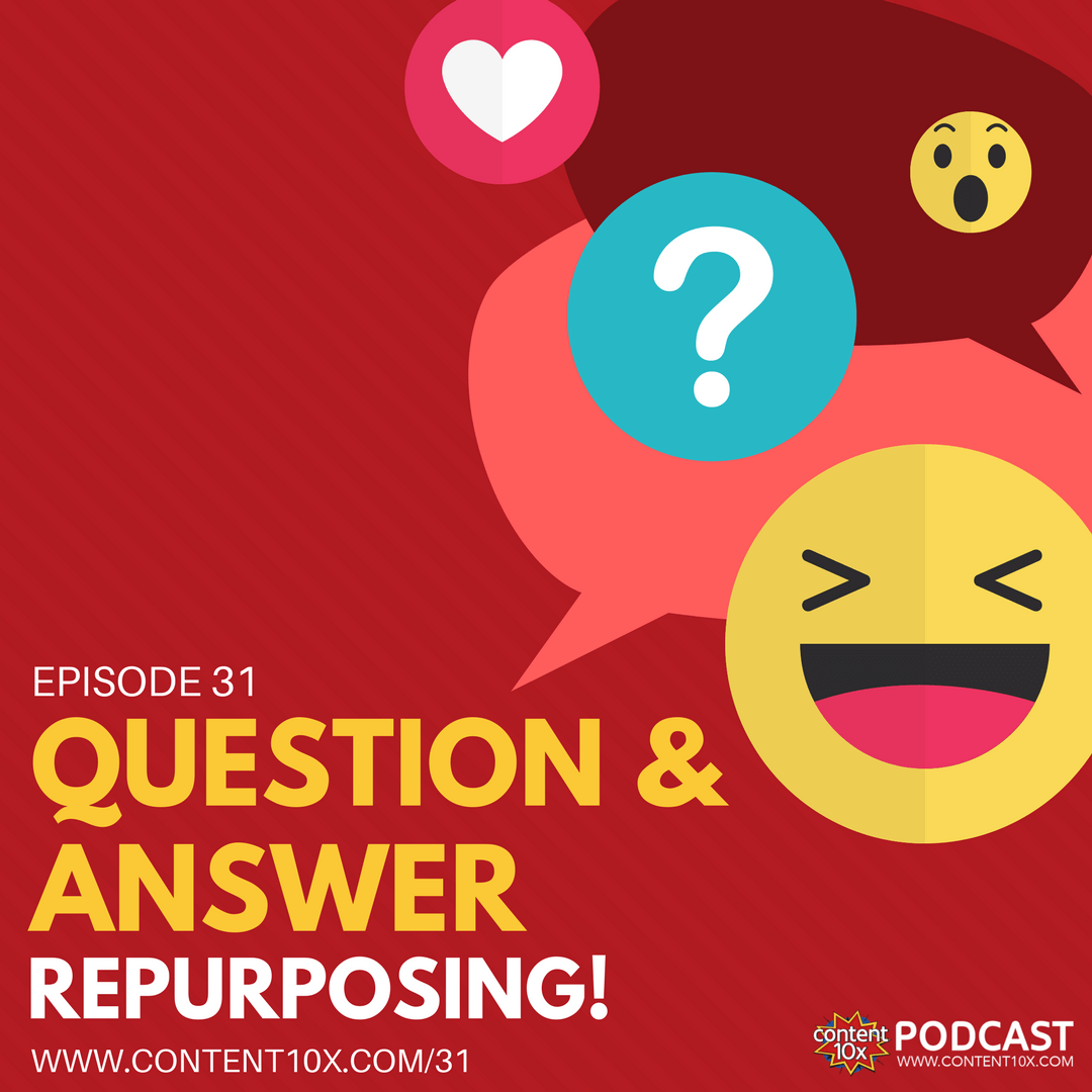 Question & Answer Repurposing - Content 10x Podcast