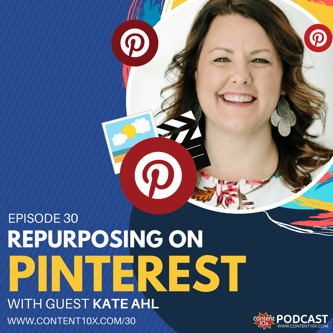 Repurposing on Pinterest with Kate Ahl - Content 10x Podcast
