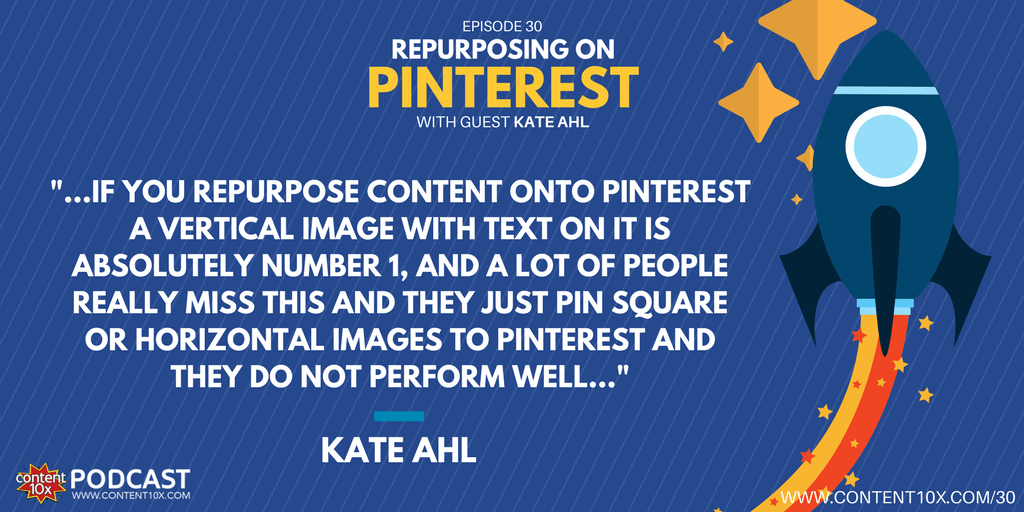 Repurposing on Pinterest with Kate Ahl