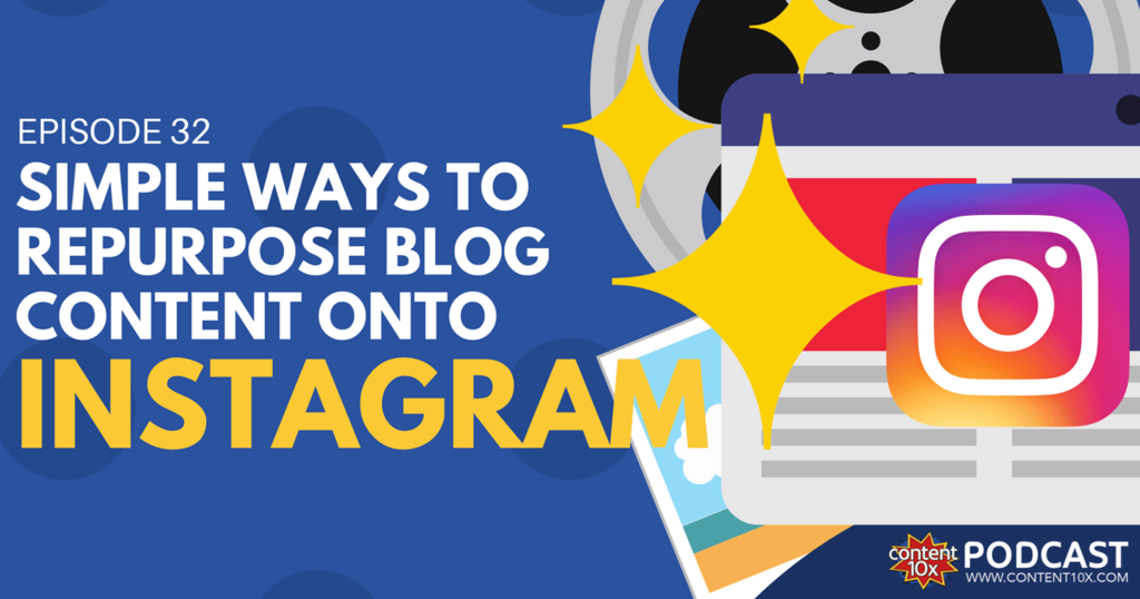 Simple Ways to Repurpose Blog Content onto Instagram - Content 10x Podcast