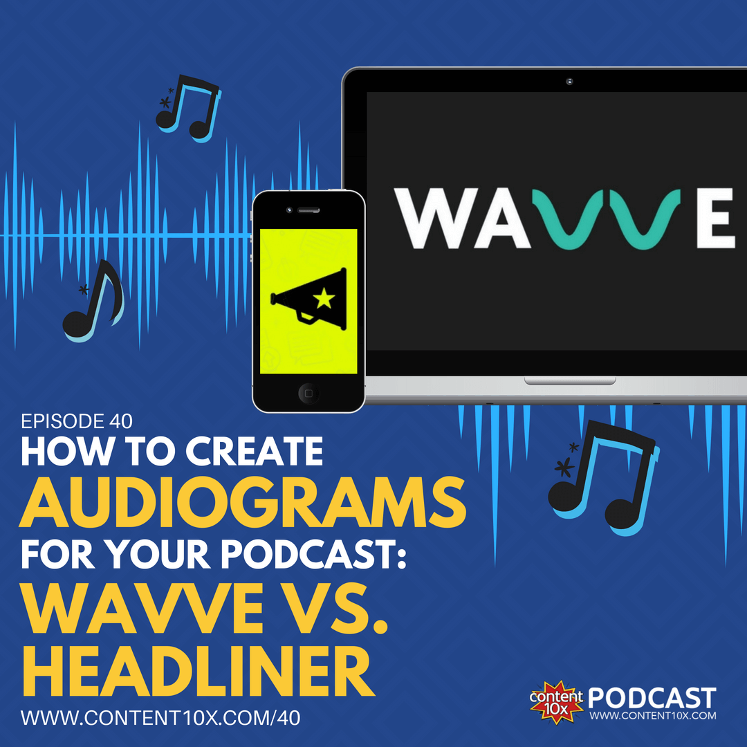 How to Create Audiograms for your Podcast - Content 10x Podcast
