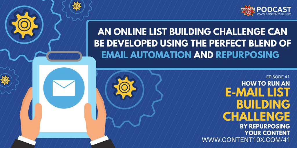 How to Run an Email List Building Challenge by Repurposing Your Content
