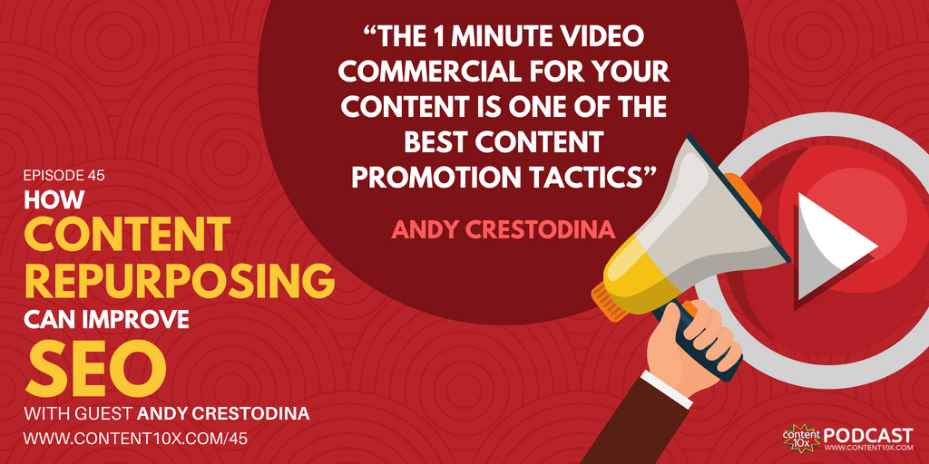 How Content Repurposing can Improve SEO with Andy Crestodina