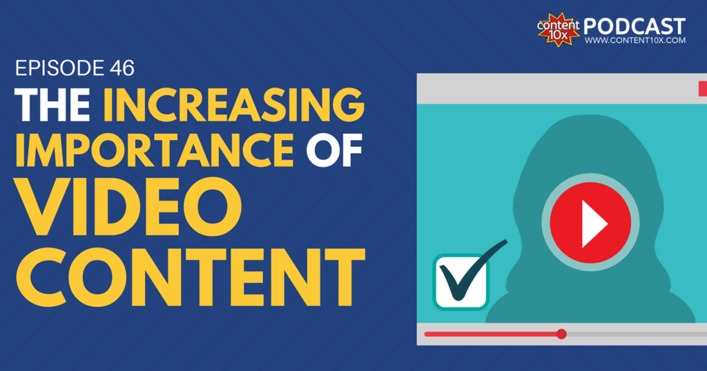 The Increasing Importance of Video Content - Content 10x Podcast