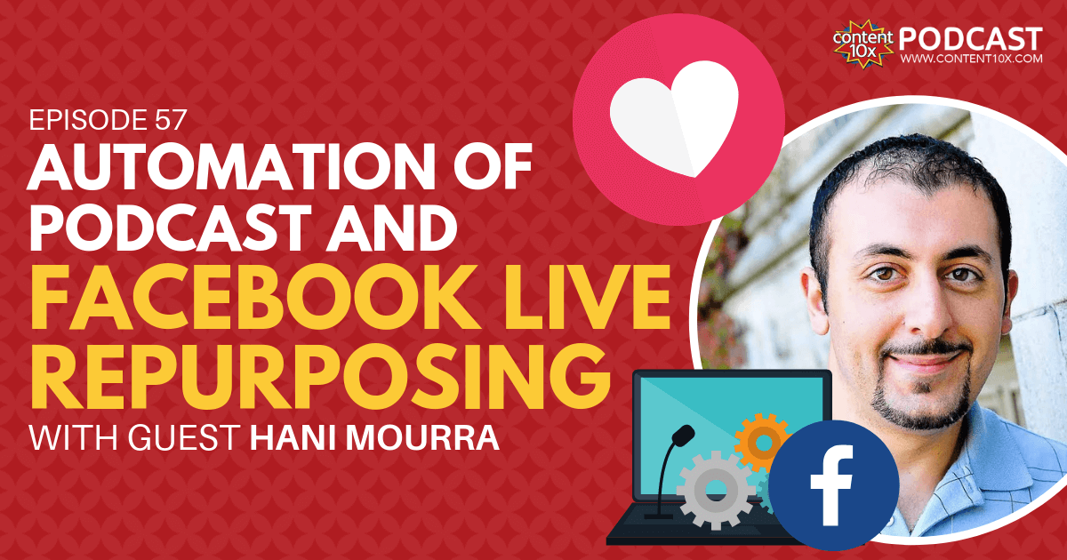 Automation of Podcast and Facebook Live Repurposing with Hani Mourra - Content 10x Podcast