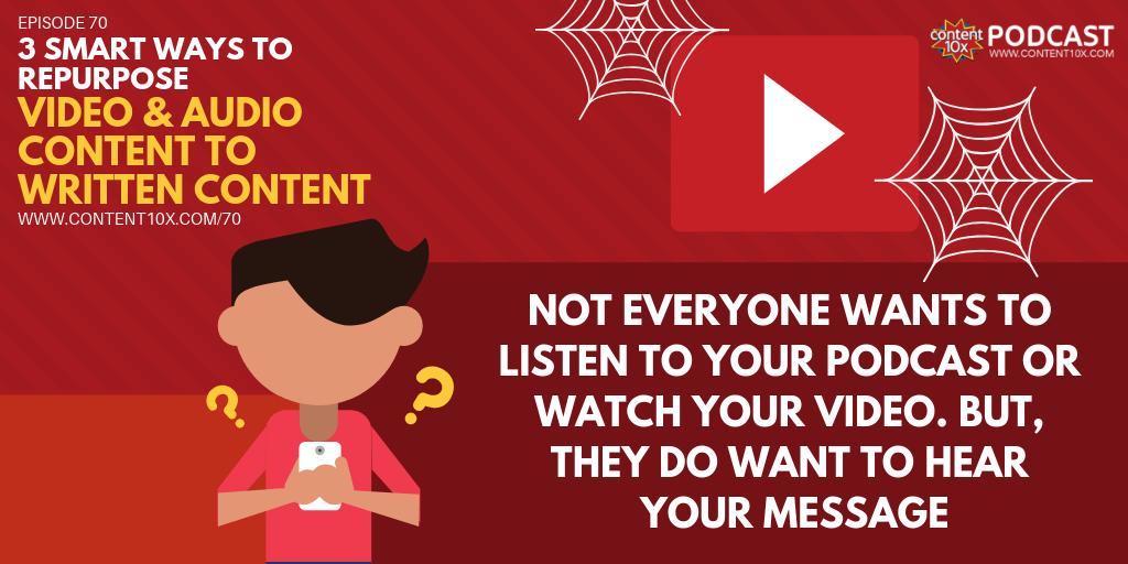 3 Smart Ways to Repurpose Video & Audio Content to Written Content