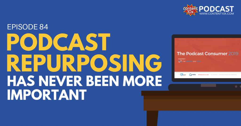 Podcast Repurposing Has Never Been More Important - Content 10X Podcast