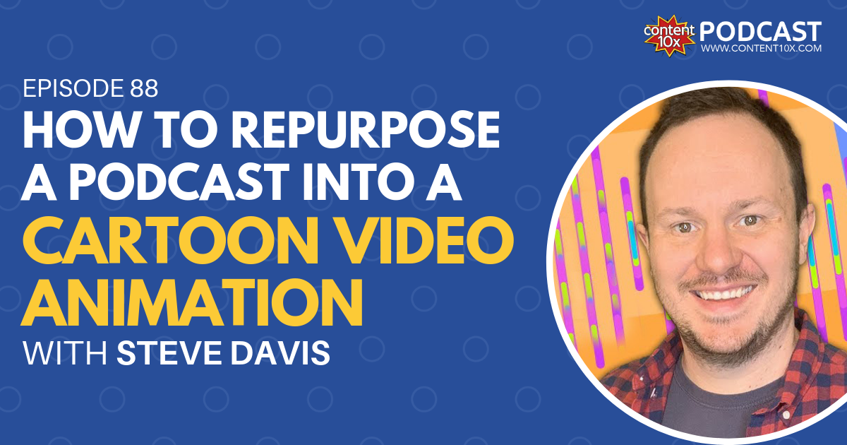 How to Repurpose a Podcast into a Cartoon Video Animation - Content 10x Podcast