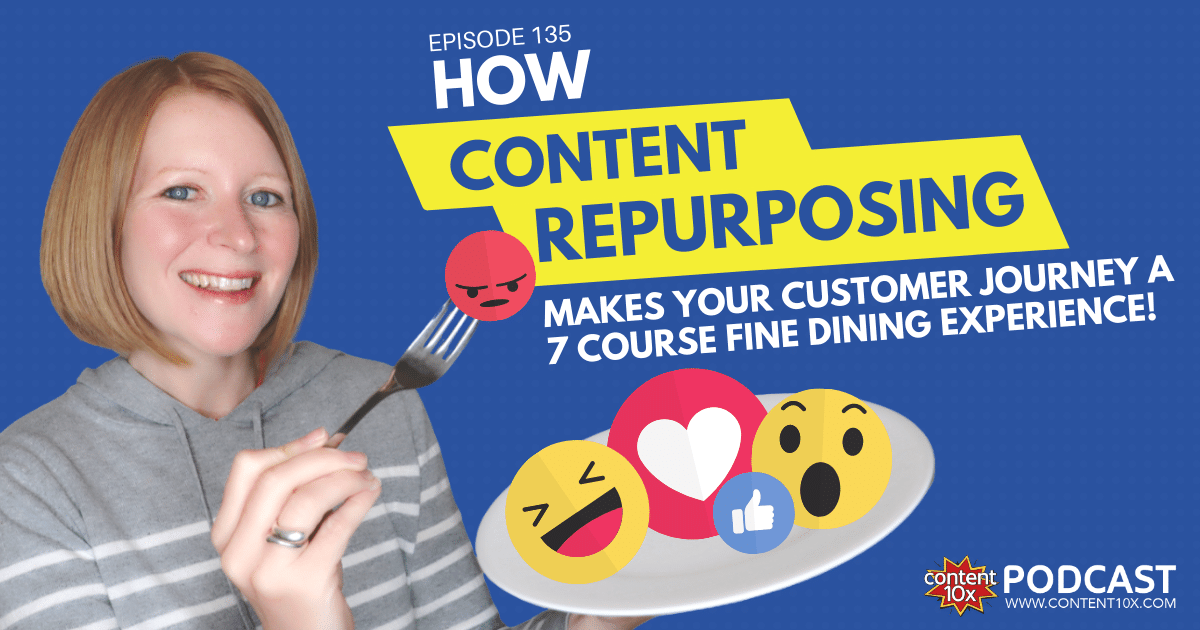 How Content Repurposing Makes Your Customer Journey a 7 Course Fine Dining Experience - Content 10x Podcast