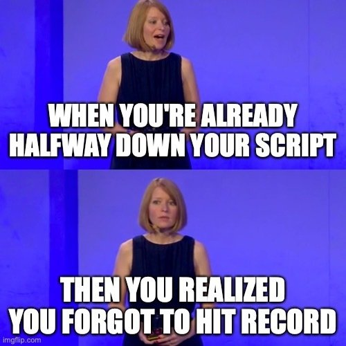 Amy talking at conference meme