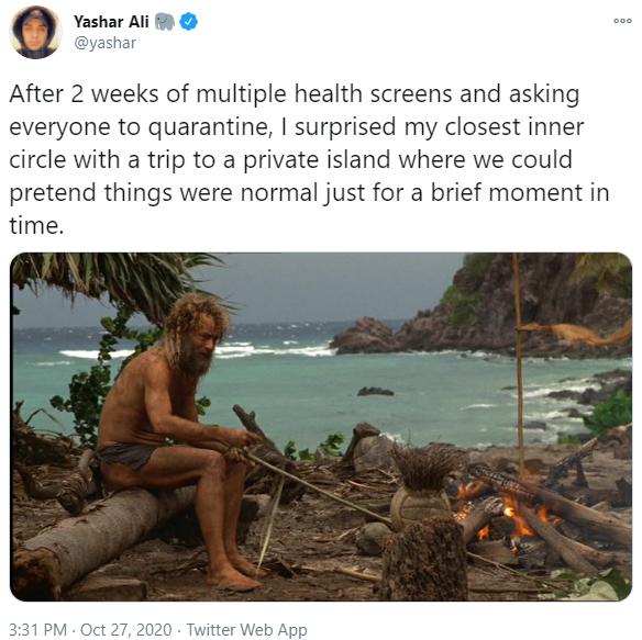 Castaway Meme - trip to a private island