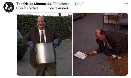 How it started vs how it's going meme