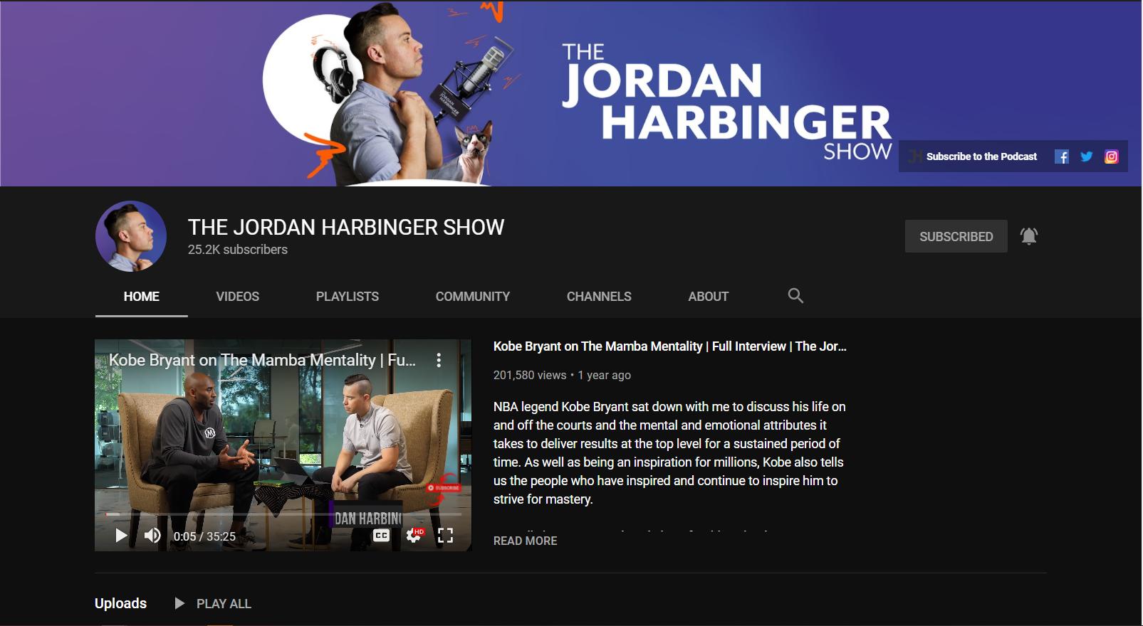 The Jordan Harbinger Show on YouTube