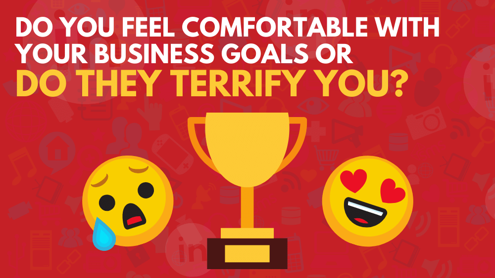 Do you feel comfortable with your business goals or do they terrify you?
