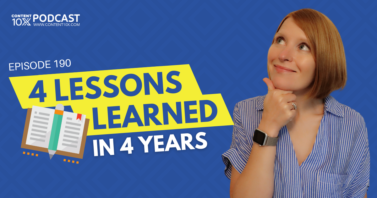 4 Lessons Learned in 4 Years