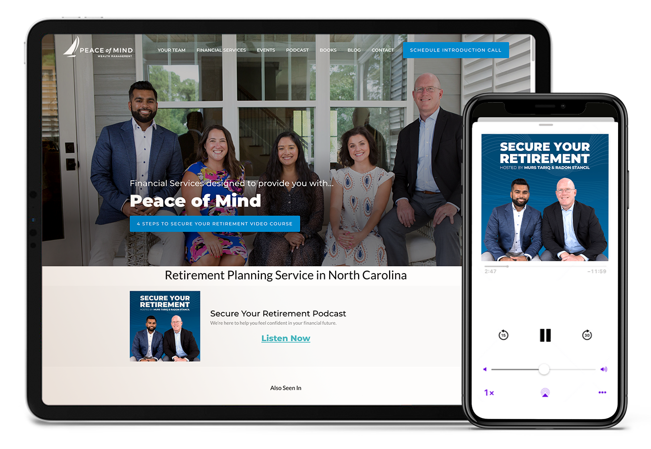 Peace of Mind Wealth Management website