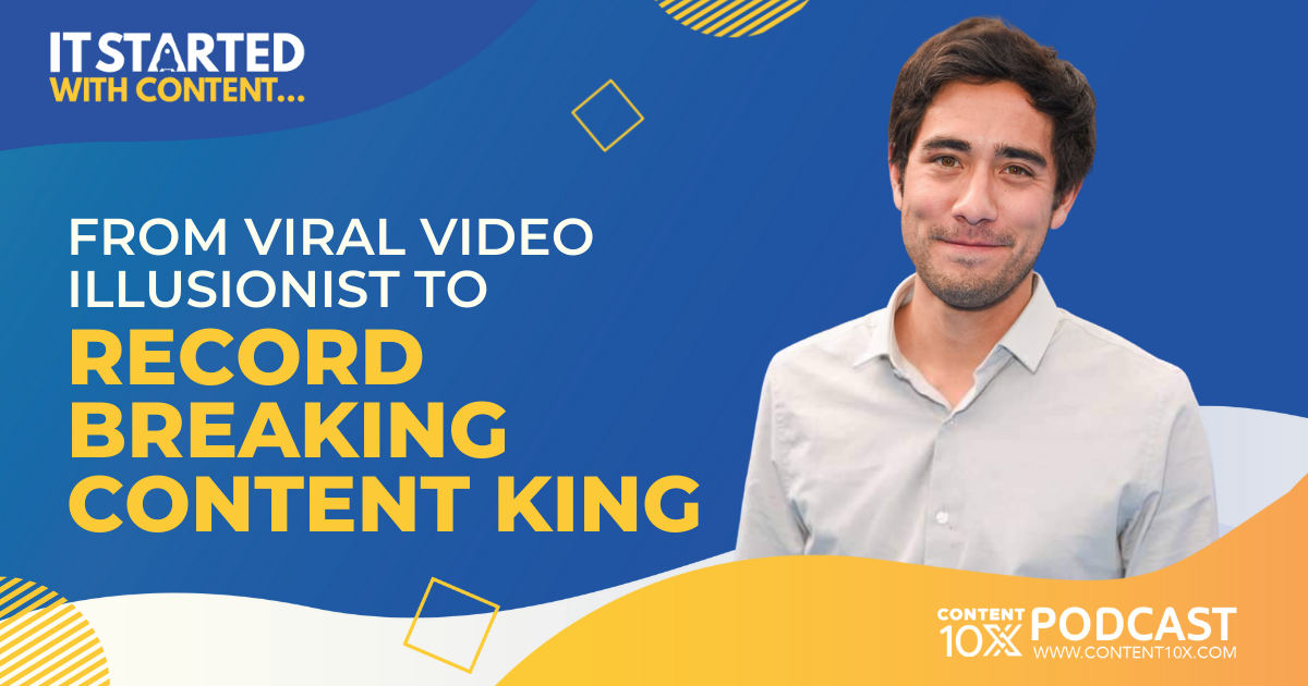 It Started with Content...From Viral Video Illusionist to Record Breaking Content King